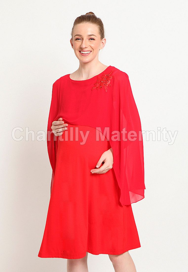 Chantilly Maternity/Nursing Dress 53040 RD-RD