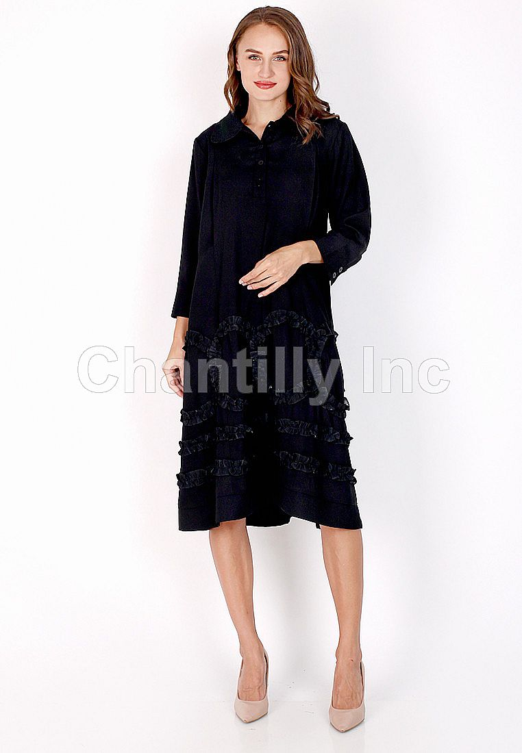 Chantilly Maternity/Nursing Dress 53066 BK