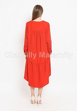 Dress 2-in-1 Maternity/Nursing W/Train Skirt CH53057 MB