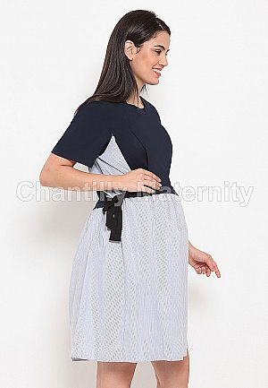 Chantilly Dress 2-in-1 Katun Mix Kaos W/ Slimming Effect 56008 NV