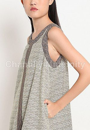 Chantilly Maternity Dress 51048 BR Tweed